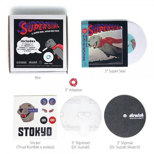 """3"""" Super Seal (DJ QBert) Box-Set, weiß, JPN Pressung"""