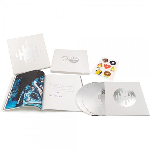 "Serato 20th Anniversary Box, 2x 12"" Silber Picture Disc Vinyl + 2""x12"" Coffee-table book"