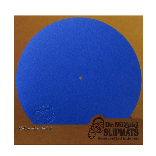 "Dr.Suzuki 12"" Slipmats Mix-Edition blau"