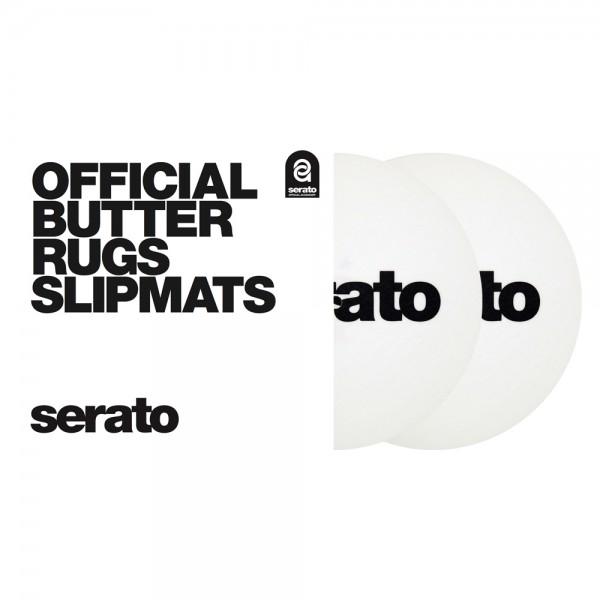 "Serato 7"" Butter Rugs Slipmats weiß"