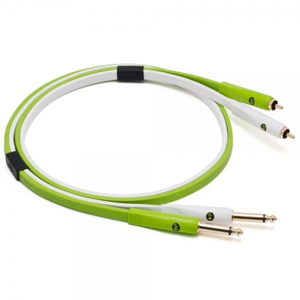 d+ Stereo-Cinch/2x6,3mm Mono-Klinke (RCA/TS) Kabel Class-B