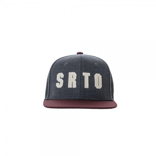 "Serato ""SRTO"" Snapback Felt Cap, grau-burgund"