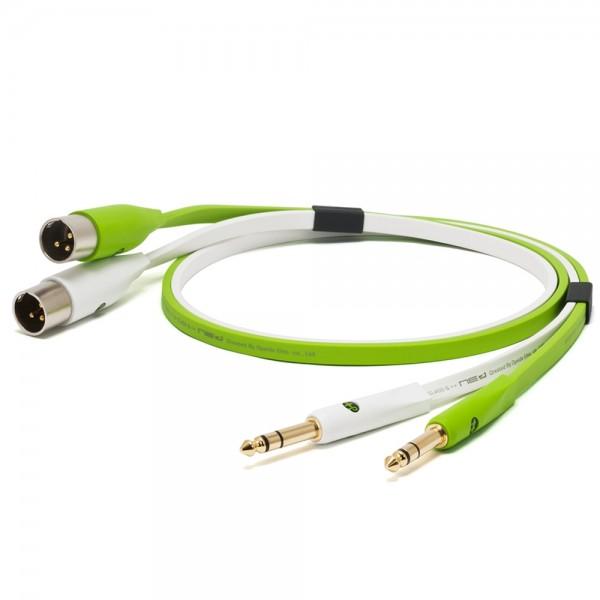 Oyaide d+ Audiokabel TRS/XLR-M 1m